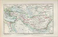 Landkarte map 1905: REICH ALEXANDER DES GROSSEN. Griechenland Zypern Persien