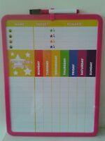 Magnetic Reward Star chart. ( wipe board with pen )