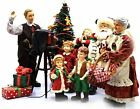KIRKLAND FABRIC MACHE  SANTA W/ CHILDREN, MRS CLAUS CHRISTMAS DISPLAY 11 PCS NEW
