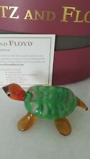 Fitz and Floyd Glass Menagerie Mosaic Turtle Glass Figurine/Box