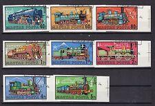 Ungarn gestempelt  MiNr. 2730B-2737B  Dampflokomotiven