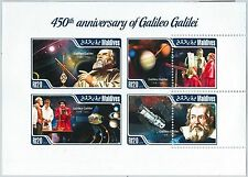 MALDIVES - ERROR, 2014 MISSPERF SHEET: GALILEO GALILEI, ASTRONOMY, SCIENCE
