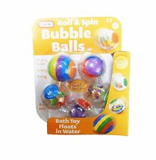 Babies Roll & Spin Activity Bath Toy Bubble Balls - Pack Of 5 - Suitable From Bi