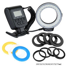 Macro 48 Pcs RF550D LED Ring Flash Light For Canon/ Nikon/ Sony/ Olympus DSLR