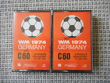 WM 1974 GERMANY  C 60 Cassette Kassetten 2 Stück Audiokassetten SPECIAL EDITION
