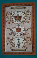 Emblems of Royalty cotton tea towel by Emma Bridgewater