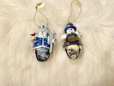 Bradford Exchange Thomas Kinkade Snowmen Ornaments Set of 2