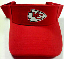 Read Listing! Kansas City Chiefs Handcrafted FLAT LOGO on Red visor cap hat!