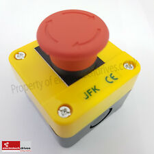 Emergency stop button station, twist to release 1 N/C Contact Block UK Supplier