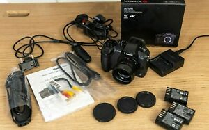 Panasonic LUMIX GH5 Camera Leica 15mm F1.7 Lens 3 Batts Memory Card & More