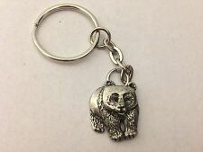 Panda PP-A40 English Pewter Emblem on a Split Ring Keyring