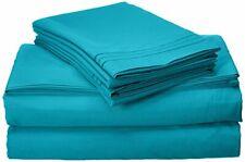 Soft & Comfy Microfiber Bed Sheet Set w/ 2 Pillow Cases for Queen Size Mattress