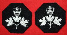 QC Canadian Guards Cloth Collar Badges (Pair)