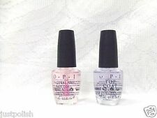 OPI Nail Polish Treatment Natural Nail Base Coat + Top Coat  .5oz/15ml ~2ct~