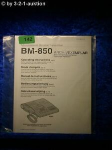 Sony Manual Bm 850 Transcriber (#0142)