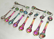 10 VITRAIL CHANDELIER GLASS CRYSTALS ORB DROPLETS MULTI COLOUR SUN CATCHER BEADS