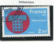 TIMBRE FRANCE OBLITERE N° 2130 TELEMATIQUE