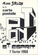 PONT-SAINT-ESPRIT 4 éme salon de la carte postale 1988