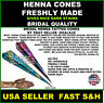2 FRESHLY MADE NO PPD  Henna Mehandi paste cones ready  to use tattoo USA SELLER