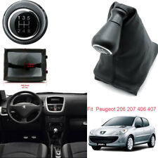 Car Gear Shift Knobs Gaiter Boots Cover 5Speed For 06-13 Peugeot 206 207 406