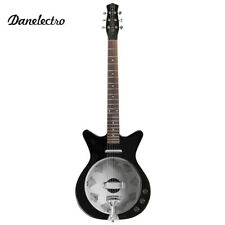 NEW Danelectro '59 Resonator Vintage Hollow Body Acoustic Electric Guitar Black