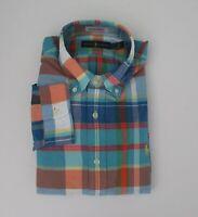 NEW Ralph Lauren Long Sleeve Classic Fit Madras Plaid Shirt M L XL 2XL NWT $99