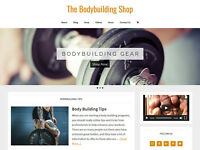 [NEW DESIGN] * BODYBUILDING * store blog website business for sale AUTO CONTENT