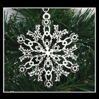 Pewter Scottish Thistle Snowflake Ornament/Pendant