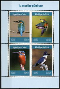 Chad 2019 MNH Kingfishers Kingfisher 4v M/S Martin-Pecheur Birds Stamps