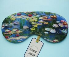 Eye Sleep Mask Soft Cotton Water Lilies Travel Flower Gift Blackout Relax UK