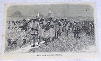 1878 magazine engraving~ Stanley Congo Expedition, DASH ACROSS UNYORO