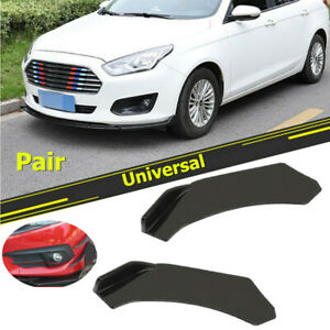 2 PCS Car SUV Front Bumper Lip Body Kit Spoiler Wing Fit for Ford Chrysler BMW