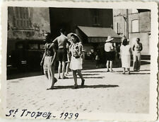 PHOTO ANCIENNE - VINTAGE SNAPSHOT - ST TROPEZ RUE COMMERCE MODE - STREET 1939