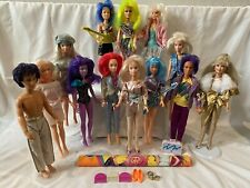 1985 Jem And The Holograms Vintage Dolls Lot Of 13 Plus Poster And Accessories.