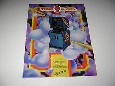 1976 Meadows Games Cobra Gunship Arcade game Original sales flyer brochure