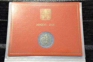 2 euro commémorative, BU VATICAN 2016, année de la miséricorde