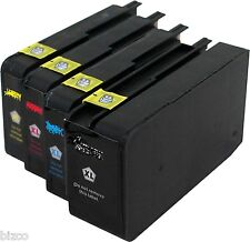 HP 711 HY ink 4 cartridges  Black Cyan Magenta & Yellow Compatible for T120 T520