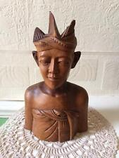 Vintage Balinese Wooden Art Deco Male Wooden Figure