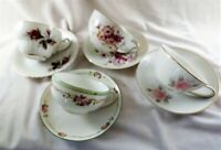 4- Mismatched China Tea Cups and Saucers   Tea Party Shabby Chic Florals 22