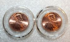 2 Airtite Direct Fit Coin Holder Capsules A19 - Lincoln Penny, Indian Cent - NEW