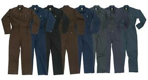 TGC815 Men's Long Sleeve Deluxe Blended Unlined Twill Work Coverall NEW w/ Tag
