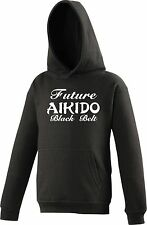 Personalised KIDS Hoody AIKIDO Future Black Belt Martial Arts