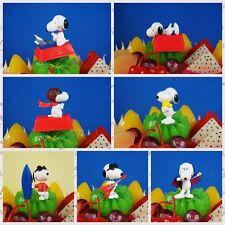 Peanuts Snoopy and Friends Joe Dracula Woodstock Pilot Cake Topper Figure 7