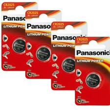 4X Panasonic CR2025 Lithium Coin Cell Battery 3V For calculators Remote Watches