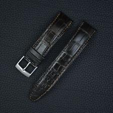 IWC Uhrband 20mm Leder Watch Strap Dark Brown Alligator Krokodil