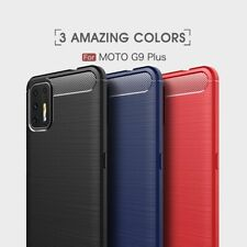 Housse etui coque silicone gel carbone pour Motorola Moto G9 Plus + film ecran
