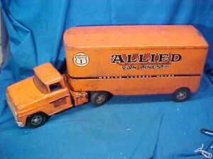 """1950s TONKA Pressed Steel ALLIED VAN LINES Toy TRUCK 24"""""""