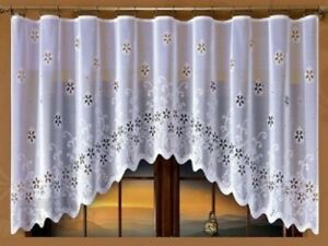 WHITE NET CURTAIN WINDOWS DECORATION FOR ANY ROOM 250 cm x 120 cm