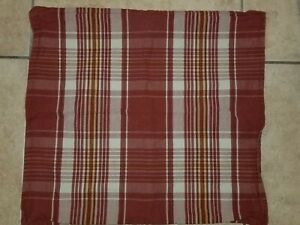 """Restoration Hardware """"Brick Red Plaid"""" 20"""" Pillow Cover"""