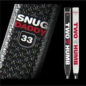 TWO THUMB SNUG DADDY 33 JUMBO PUTTER GRIP BLACK WHITE NEW
